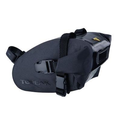 Topeak Wedge Drybag with Strap Mount (Black, 6.9x4.3x4.5-Inch, Medium)