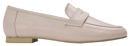 Kara Mujeres Soft Leather Penny Loafer Flats Pink