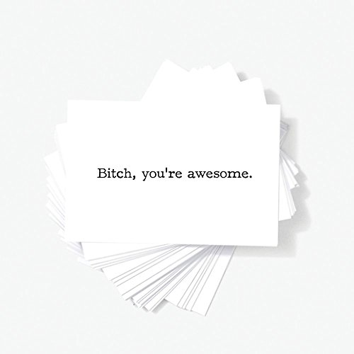 Bitches Mini - Bitch You're Awesome - Inspirational Quote Adult Mini Greeting Cards - 2
