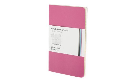 Moleskine Volant Address Book, Pocket, Magenta, Soft Cover (3.5 x 5.5) (Volant Notebooks) by Moleskine (2009) Paperback ()