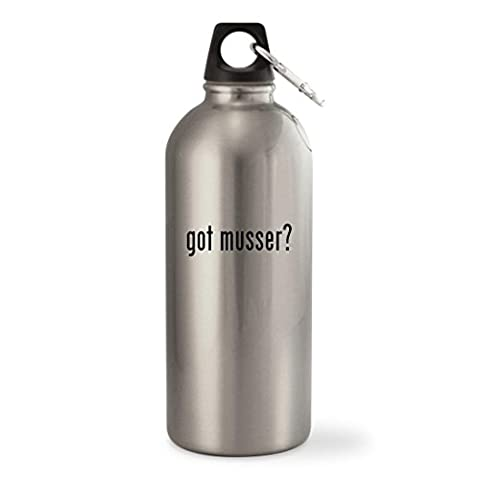 got musser? - Silver 20oz Stainless Steel Small Mouth Water Bottle - Musser Good Vibe