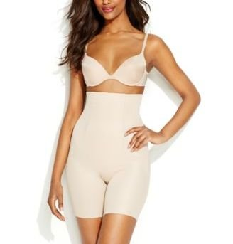 Miraclesuit Back Magic Extra Firm Control High-Waist Thigh Slimmer, M, Nude