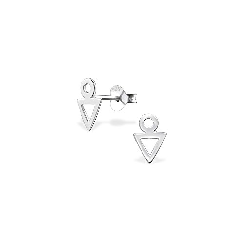 Price comparison product image 925 Sterling Silver Geometric Plain Ear Studs