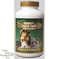 Garmon Corporation-Naturvet AH03121 1000 Count Brewers Yeast and Garlic with Linoleic, My Pet Supplies