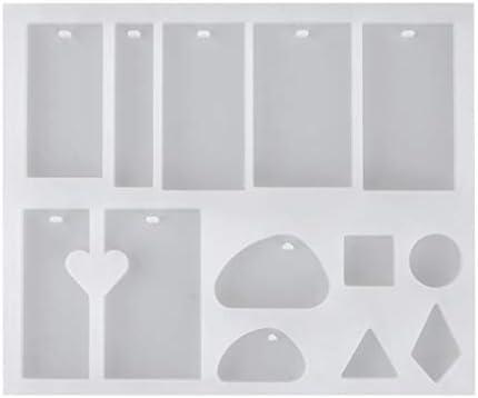 HEALLILY 樹脂ジュエリー金型シリコンジュエリー金型ジュエリー鋳造金型吊り穴ジュエリー作りDIYクラフト用金型