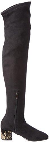 G NR Gold Rapisardi Black w F902 Chamois Boots 01cm Black Glitter Women's P0OUgrwqP