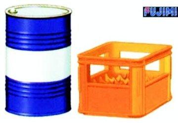 フジミ模型 ディティールアップシリーズ Dup-25 1/32 ビールケース・ドラム缶セットの商品画像