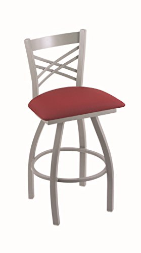 Holland Bar Stool Co. XL 820 Catalina Anodized Nickel Swivel Counter Stool, Allante Wine from Holland Bar Stool Co.