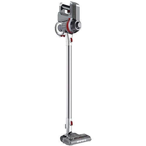 Deik Cordless Vacuum Cleaner, Stick and Handheld Vacuum with Powerful Suction & Wall-Mount Silver  ()