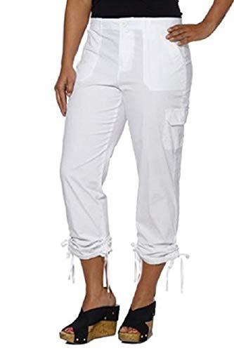 - Gloria Vanderbilt Zoey Cropped Capri Cargo Pant (22w, Waterdrop)