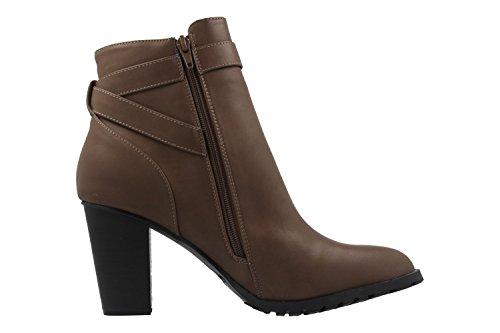 Andres Machado Damen Stiefeletten - Braun Schuhe in Übergrößen