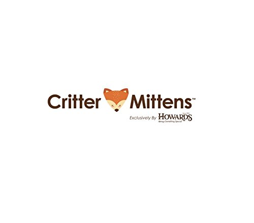 Gray Kitten or Cat Warm and Soft Knit Critter Mittens