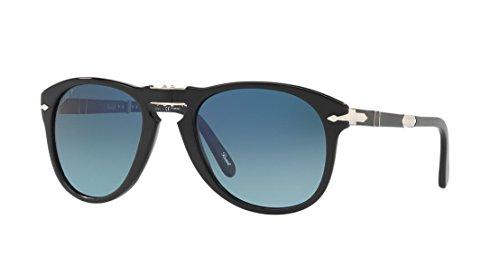Persol Po 0714SM 95/S3 Black / Blue 52mm Steve McQueen Li...