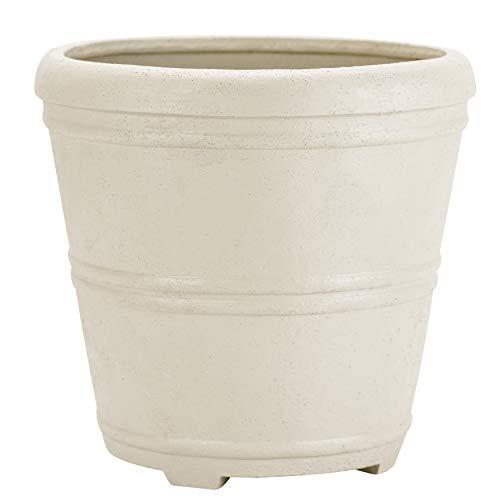 Martha Urn - Martha Stewart Garden, Round False Bottom Planter, 12 Inch, Gray
