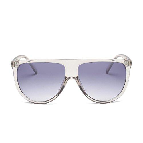 OverDose, Lunettes De Soleil CarréEs Unisex Yeux De Chat à Verres Effet Miroir Anti-UV Sport Glasses (D)