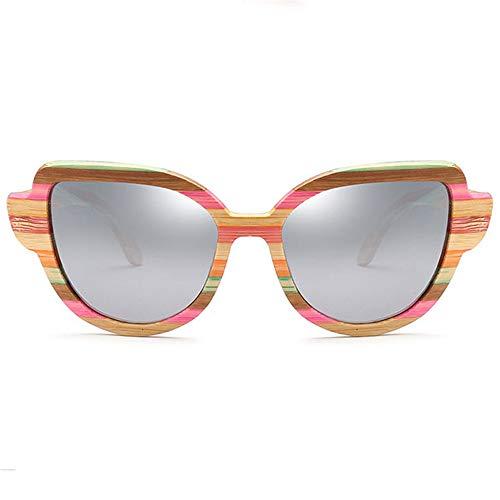 polarisées de de Couleur Soleil pour Classiques Femmes UV Soleil Joo Orange Protection Lunettes de Cadre Bois Gray en Lunettes OZSZq5w