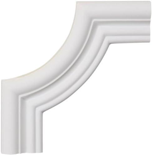 Ekena Millwork PML12X12SW-CASE-4 12 inch W x 12 inch H x 1//2 inch P Swindon Panel Moulding Corner 4-Pack ,