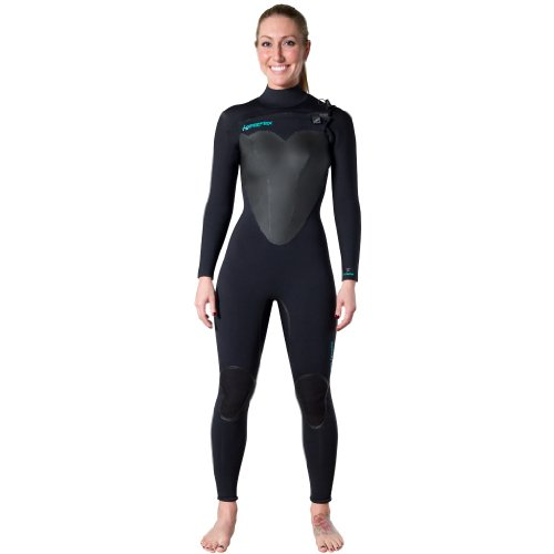 Hyperflex Wetsuits Women's Voodoo 4/3mm Front Zip Fullsuit, Black, - Womens Wetsuits Sale