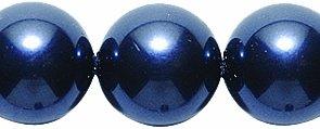 Swarovski 5810 Crystal Round Pearl Beads, 10mm, Night Blue, (10mm Glass Pearl Beads)
