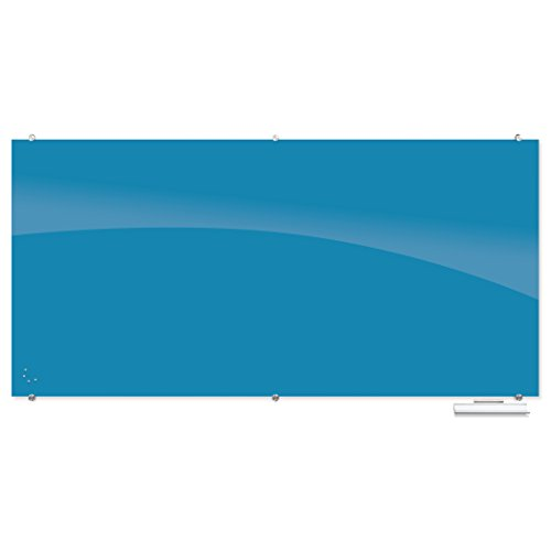Best-Rite Visionary Colors Magnetic Glass Dry Erase Whiteboard, 4 x 6 Feet, Light Blue (83845-Blue)) by Best-Rite