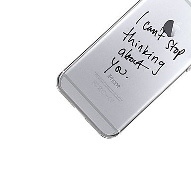 Fundas y estuches para teléfonos móviles, Para el iphone 7 más la caja de la contraportada del patrón de la cubierta del caso 7 cubren la palabra / la frase suave tpu para el ( Modelos Compatibles : I IPhone X