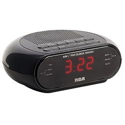 Audiovox RC205 Dual Wake Clock Radio, Black - Quantity 12