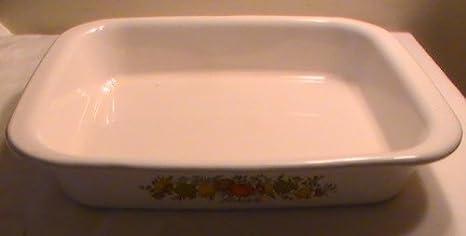 On Sale Corning Ware Spice of Life Rectangular  Roasting Pan 13 x 9 x 2 Vintage Kitchen