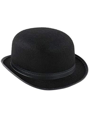 (Jacobson Hat Company Men's Permalux Derby, Black, Adult Medium)