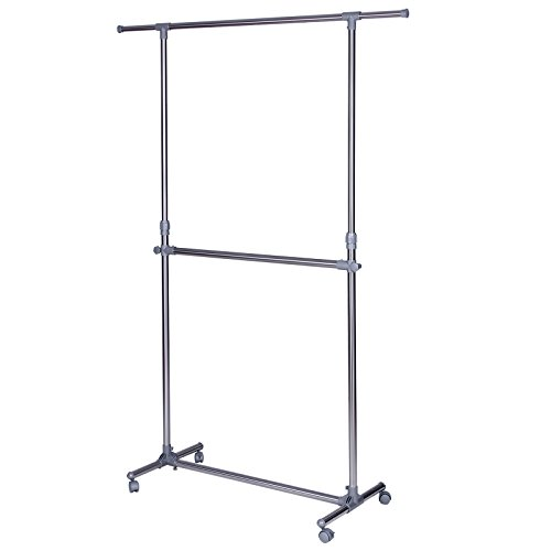 SONGMICS Double Rod Clothes Rack for
