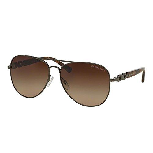 Michael Kors 1003 100213 Gunmetal Fiji Aviator Sunglasses Lens Category 3