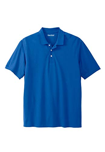 KingSize Men's Big & Tall Solid Pique Polo Shirt, Royal Blue Tall-L