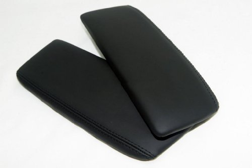 acura-rl-synthetic-leather-center-console-armrest-covers-black-vinyl-part-only