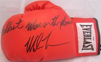MIKE TYSON SIGNED RED GLOVE