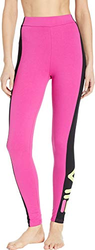 - Fila Women's Macarena High-Waisted Leggings Fuchsia Purple/Black/Sharp Green X-Large 37