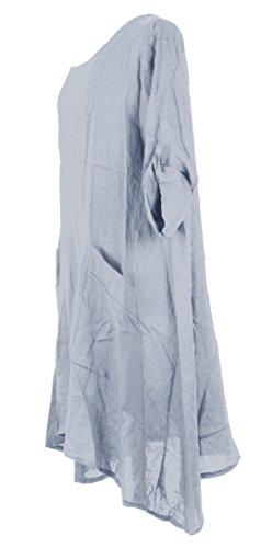 TEXTUREONLINE - Vestido - para mujer azul claro