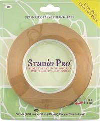 Studio Pro 7/32-Inch Black Lined Copper Foil ()