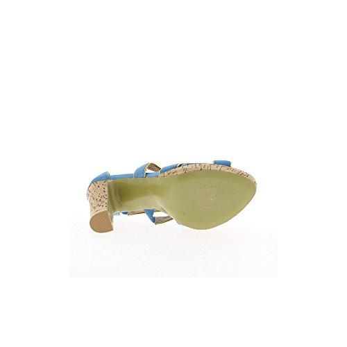 12 Et À De Talon Bleues Plateforme 5cm Sandales Femme x4wXqR0O