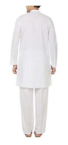 Royal Kurta Men's Fine Cotton Kurta Pyjama Set 46 White by Royal Kurta (Image #1)