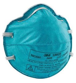 3M™ Small N95 1860S Health Care Disposable Particulate Respirator and Surgical Mask With Adjustable Nose Clip - Meets NIOSH, FDA And ASTM Standards (20 Each Per Box)