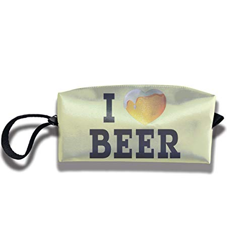 Travel Toiletry Pouch Beer Shaving Kit Make-up Bag with Handle,Portable Organizer Receive Cosmetic Storage Case for Women and Men]()