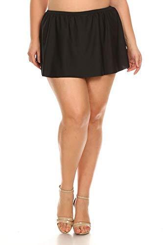 (Dippin' Daisy's Solid Black Skirt Swimsuit Bottom (24W))