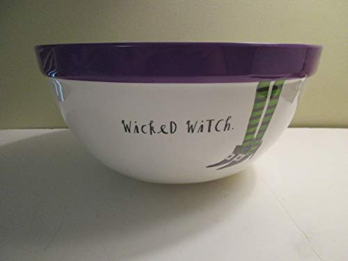 Halloween Bowl Wicked Witch Purple Inside