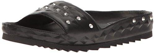 Ash Women's Unique Flat Sandal, Black, 38 EU/8 M US ()