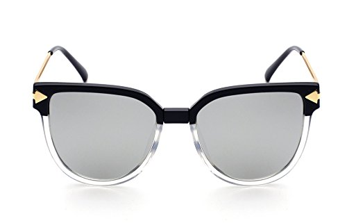metálica mitad de de Gafas de Gafas Negro exterior sol polarizadas Caja mercurio de de 2018TR90 espejo sol gafas de Uv gafas polarizadas sol tabletas 8rqz87