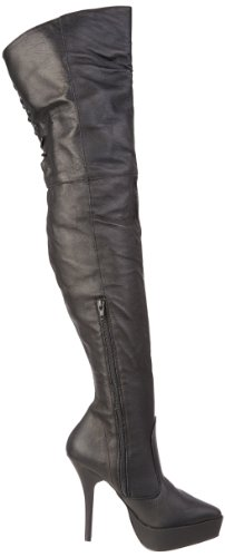 Black Blk Devious Black 3011 P Indulge Leather Boots Women's vqgYIqT