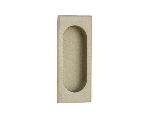 Emtek 2201 4 Inch High Solid Brass Rectangular Flush Pull for Sliding Doors, Satin Nickel