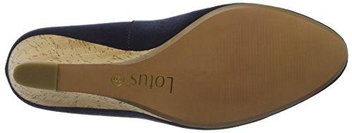 Lotus Jelico, Sandalias con Plataforma para Mujer Blue (navy Microfibre)
