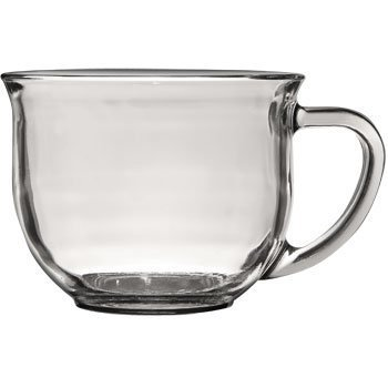 SET OF 6, Large Clear Coffee, Tea or Soup Mug, 18 oz. by Soo