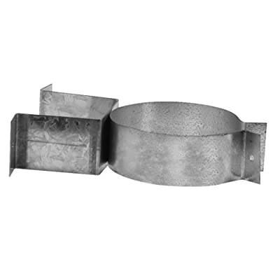 "Metalbest 4VP-WB VP 4"" Type L Pellet Pipe Wall Bracket / Support,"