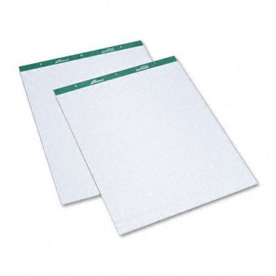 Flip Chart Pads, Unruled, 20 x 25-1/2, White, Two 50-Sheet Pads/Pack by Ampad